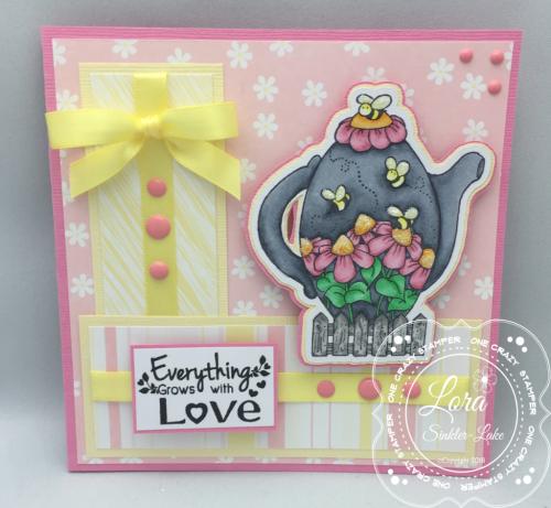 Q005 Springtime Teapot Card 1